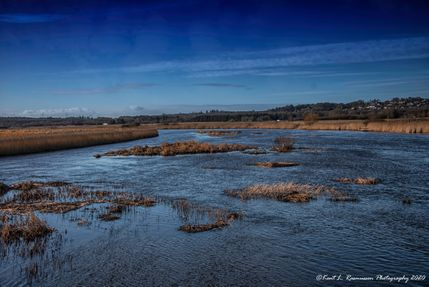 A sunny day in february at River Gudenå-